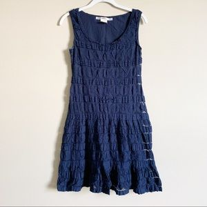 🌻 STUDIO M - blue lace dress - size small